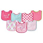 BabyVision® Luvable Friends® 7-Pack Hot Air Balloon Bib Set in Pink