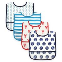 BabyVision® Luvable Friends® 4-Pack PEVA Nautical Bib Set