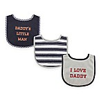 "BabyVision® Luvable Friends 3-Pack ""I Love Daddy"" Drooler Bib Set in Blue"