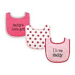 "BabyVision® Luvable Friends 3-Pack ""I Love Daddy"" Drooler Bib Set in Pink"