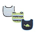 BabyVision® Luvable Friends 3-Pack Dinosaur Drooler Bib Set in Blue