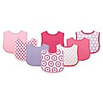 BabyVision® Luvable Friends® 8-Pack Geometric Drooler Bib Set in Pink