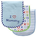 BabyVision® Luvable Friends® 3-Pack   I Love Mommy  Burp Cloth Set in Blue