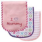BabyVision® Luvable Friends® 3-Pack   I Love Mommy  Burp Cloth Set in Pink