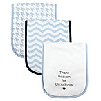 BabyVision® Luvable Friends® 3-Pack  Thank Heaven for Little Boys  Burp Cloth in Blue