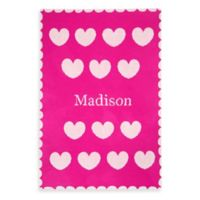 Tadpoles™ by Sleeping Partners Ultra-Soft Knit Hearts Blanket in Pink/White