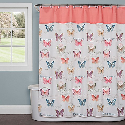 Saturday Knight Rainbow Butterfly Shower Curtain - Bed Bath & Beyond