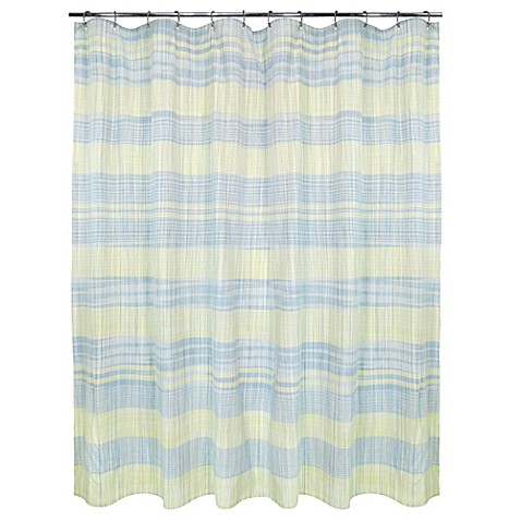 Sumatra Shower Curtain In Yellow Blue Bed Bath Beyond