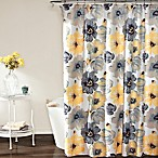 Leah Shower Curtain in Yellow/Grey