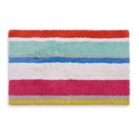 6b8def0a8ac kate spade new york 21-Inch x 34-Inch Paintball Floral Stripe Bath Rug