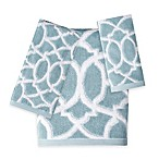 Watercolor Lattice Hand Towel
