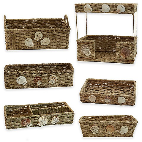 Baum seaside bathroom accessories and baskets bed bath for Bathroom accessories baskets