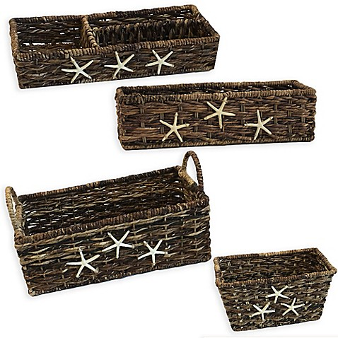 Baum starfish woven bathroom accessories and baskets bed for Bathroom accessories baskets