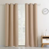 Blackout 54-Inch Grommet Top Window Curtain Panel in Taupe