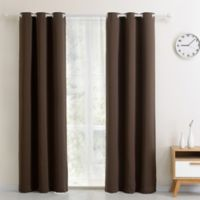 Blackout 54-Inch Grommet Top Window Curtain Panel in Chocolate