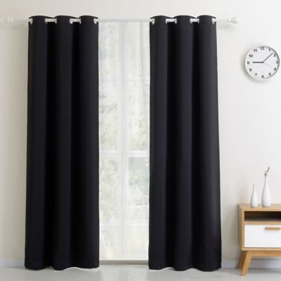 Curtains Ideas black window curtain : Buy Black Window Treatments Curtains from Bed Bath & Beyond