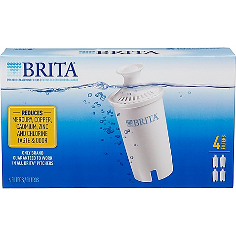 brita 4 pack replacement filters bed bath beyond. Black Bedroom Furniture Sets. Home Design Ideas