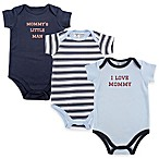 "BabyVision® Luvable Friends® Size 3-6M 3-Pack ""I Love Mommy"" Bodysuits in Navy/Blue"