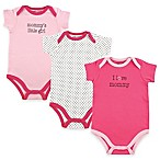 "BabyVision® Luvable Friends® Size 6-9M 3-Pack ""I Love Mommy"" Bodysuits in Pink"