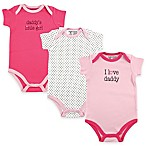 BabyVision® Luvable Friends® 3-Pack  I Love Daddy  Bodysuits in Pink