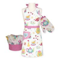 Tea Party Kid's 3-Piece Apron Set