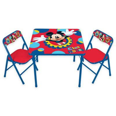 Perfect Mickey Mouse 3 Piece Activity Table And Chairs Set