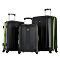 Olympia® USA Apache 3-Piece 4-Wheel Expandable Spinner Luggage Set in Black/Lime