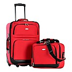 Olympia® USA Let's Travel! 2-Piece Rolling Carry On Luggage Set in Red