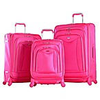 Olympia® USA Luxe 3-Piece 4-Wheel Expandable Spinner Luggage Set in Pink