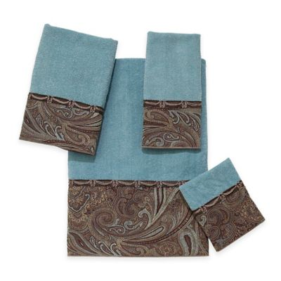 bradford hand towel in mineral - Decorative Hand Towels