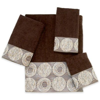 galaxy hand towel in mocha - Decorative Hand Towels