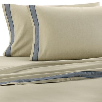 ed ellen degeneres azur california king sheet set in khaki - Cal King Sheets