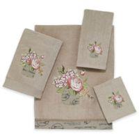 Antique Bouquet Hand Towel in Linen