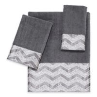 Avanti Chevron Nickel Fingertip Towel