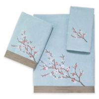Avanti Audrina Fingertip Towel in Aqua