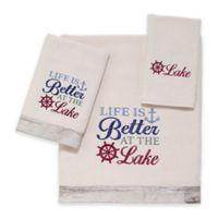 Avanti Lake Words Bath Towel in Ivory