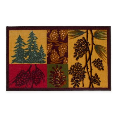 Buy Green Brown Bath Rug from Bed Bath & Beyond