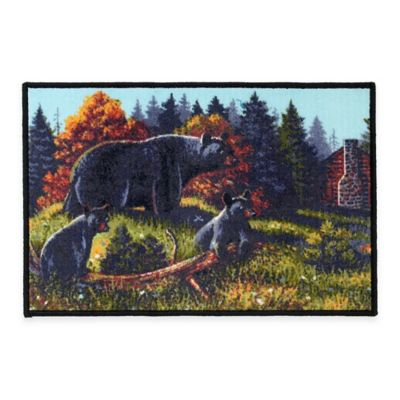 Merveilleux Avanti Black Bear Lodge Bath Rug