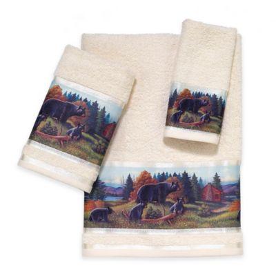 Avanti Black Bear Lodge Bath Towel. Buy Rustic Bath Towels from Bed Bath  amp  Beyond