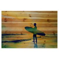 Parvez Taj Surf At Dusk 36-Inch x 24-Inch Wood Wall Art