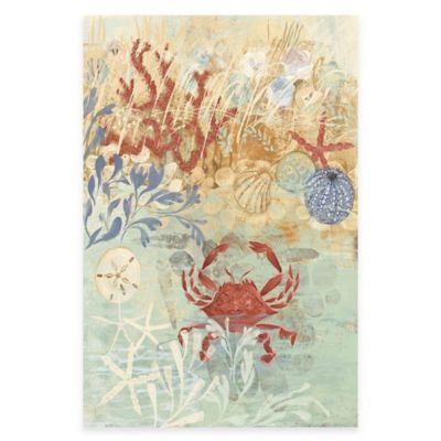 marmont hill 12 inch x 18 inch coastal floral frenzy iv canvas wall art - Coastal Wall Decor