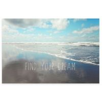 """Marmont Hill """"Find Your Dream"""" 24-Inch x 16-Inch Canvas Wall Art"""