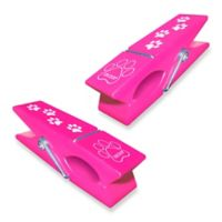 Boca Clip® Paw Print Clothespin in Raspberry