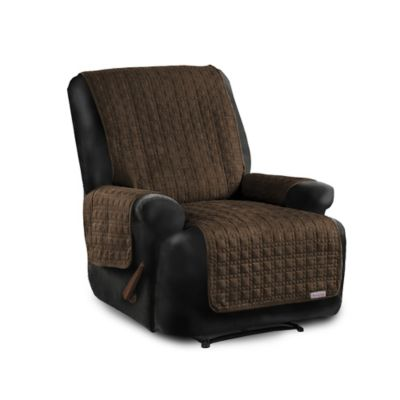 Quick Cover® for Leather Premium Waterproof Quilted Microsuede Recliner Cover in Black  sc 1 st  Bed Bath u0026 Beyond & Buy Recliner Covers from Bed Bath u0026 Beyond islam-shia.org