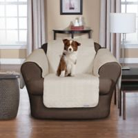 Quick Cover® Premium Waterproof Quilted Microsuede Chair Cover in Bone