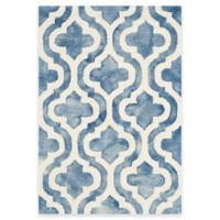 Safavieh Dip Dye Double Trellis 2-Foot x 3-Foot Accent Rug in Blue/Ivory