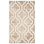 Safavieh Dip Dye Double Trellis 2-Foot x 3-Foot Accent Rug in Beige/Ivory