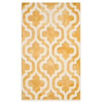Safavieh Dip Dye Double Trellis 2-Foot x 3-Foot Accent Rug in Gold/Ivory