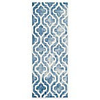 Safavieh Dip Dye Double Trellis 2-Foot 3-Inch x 6-Foot Runner in Blue/Ivory