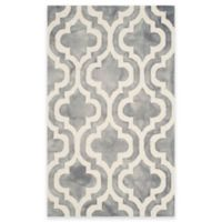 Safavieh Dip Dye Double Trellis 3-Foot x 5-Foot Accent Rug in Grey/Ivory